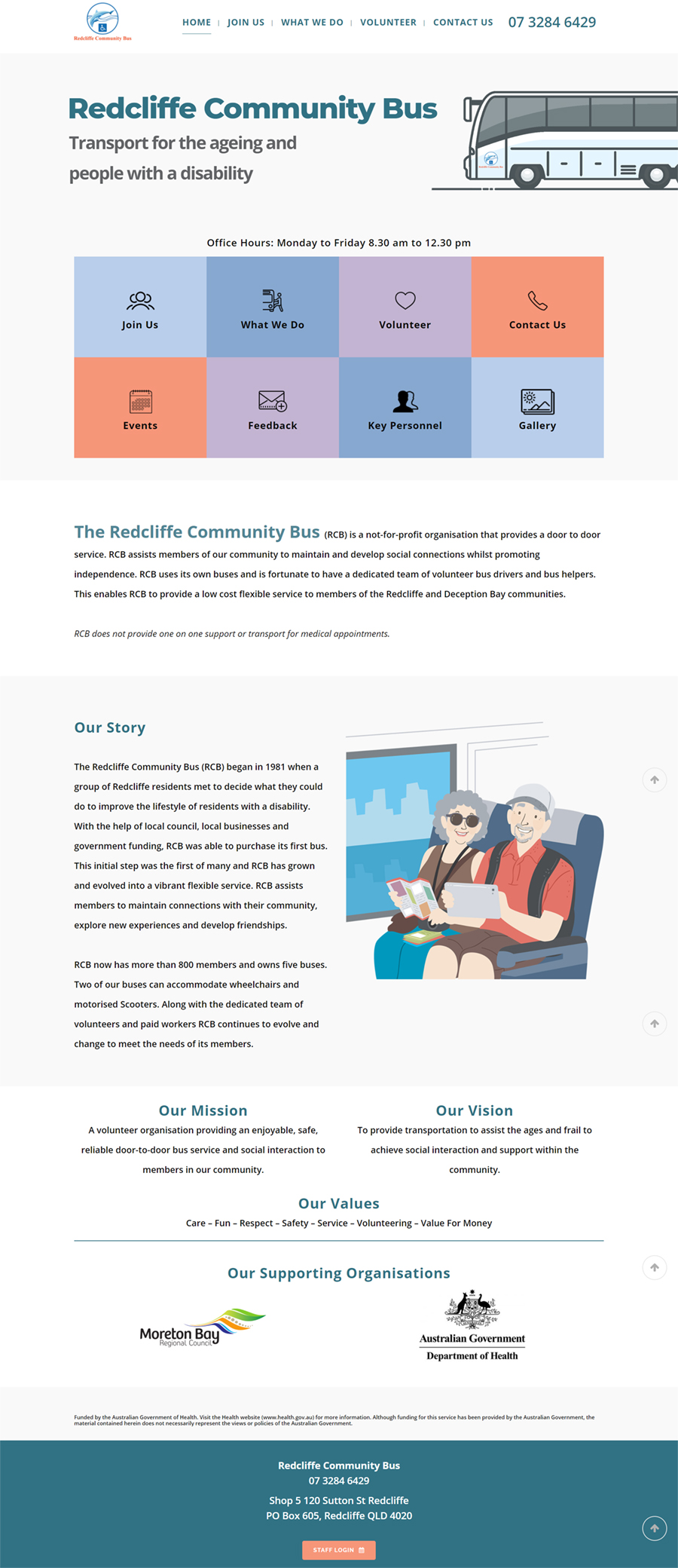 redcliffe community bus web designer brisbane>