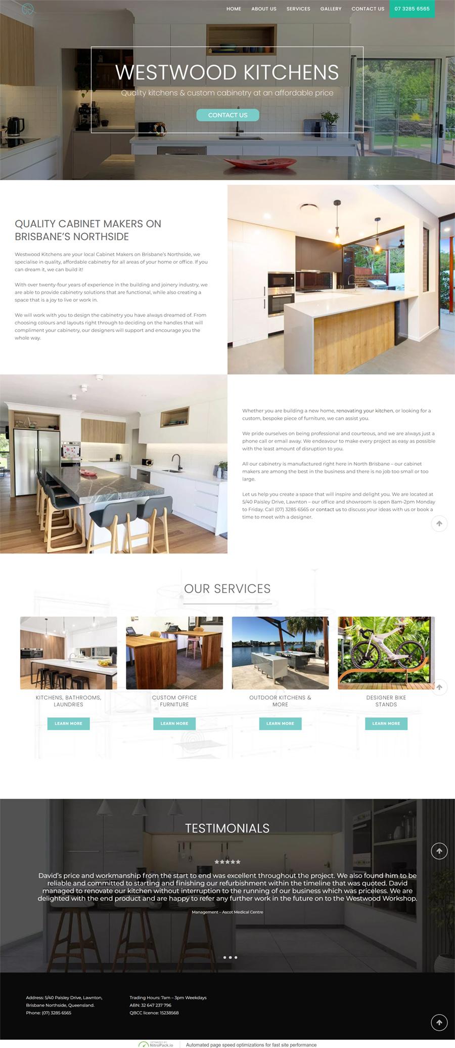 westwood kitchens website developer>